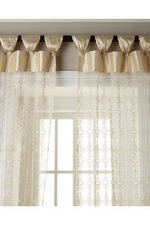 "Sweet Dreams 54""W x 108""L Elizabeth Lace Curtain"