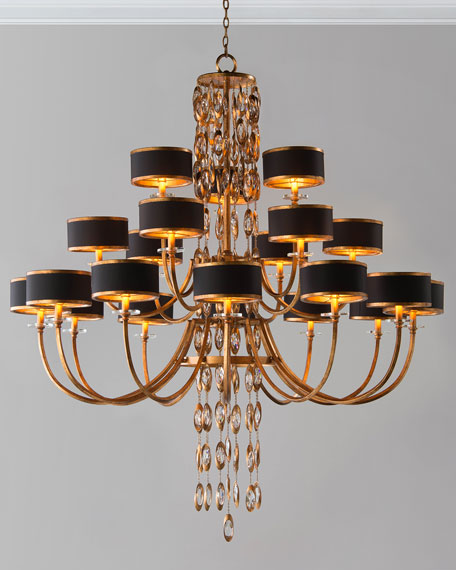 John-Richard Collection Black Tie 21-Light Chandelier
