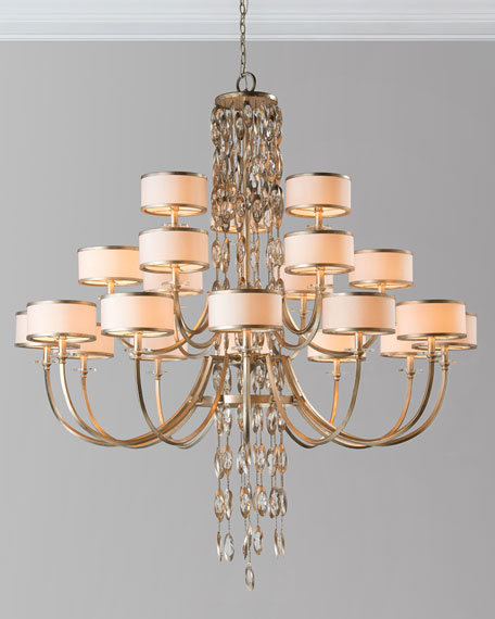 John-Richard Collection Counterpoint 21-Light Chandelier