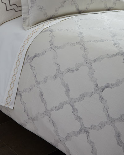 Queen Fretwork Duvet Cover