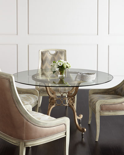 Madison Glass-Top Dining Table