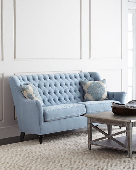 Neimanmarcus Jazmine Tufted Velvet Sofa