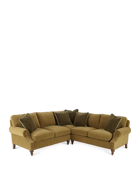 Alix Left Corner Sofa with Right-Facing Loveseat Sectional