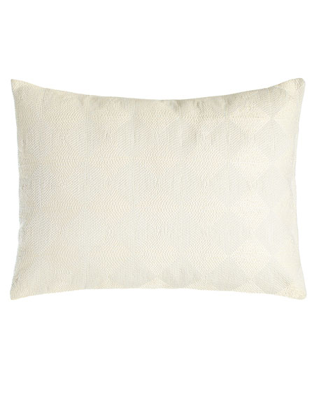 """Stitched Concentric Squares Pillow, 12"""" x 16"""""""