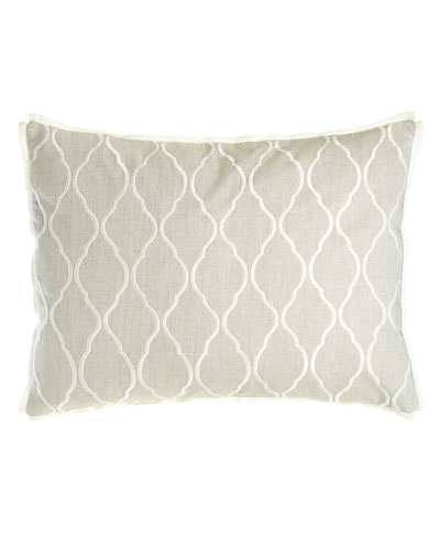 Embroidered Ogee Pillow, 15