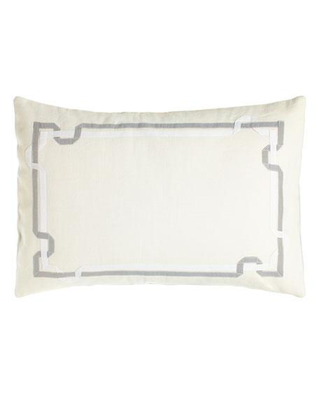 """Double Ribbon Pillow, 15"""" x 22"""""""