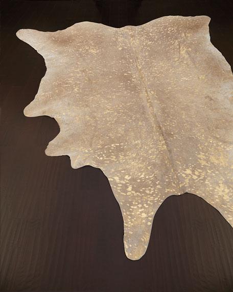 Neimanmarcus Golden Frost Hairhide Rug, 5' x 8'