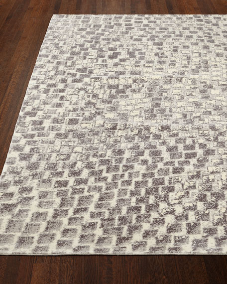 "Cream Tile Rug, 9'9"" x 13'9"""