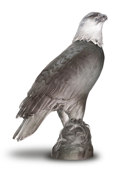 Daum Small Gray Eagle Sculpture