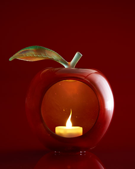 LARGE APPLE VOTIVE HOLDER