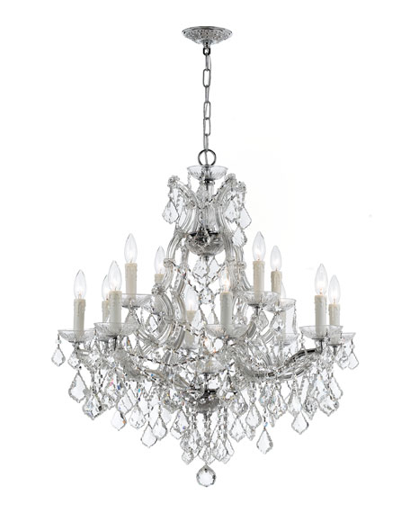 Crystorama Maria Theresa 13-Light Elements Crystal Chrome Chandelier