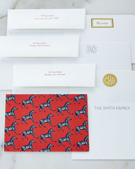 Howie Cards with Personalized Envelopes