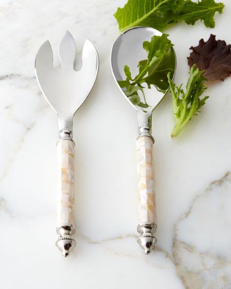 Godinger Mother-of-Pearl Salad Servers, 2-Piece Set