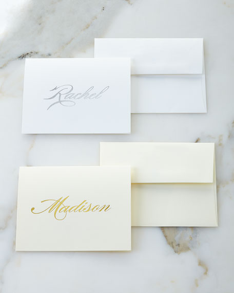 Boatman Geller Foil-Embossed Foldover Notes with Plain Envelopes