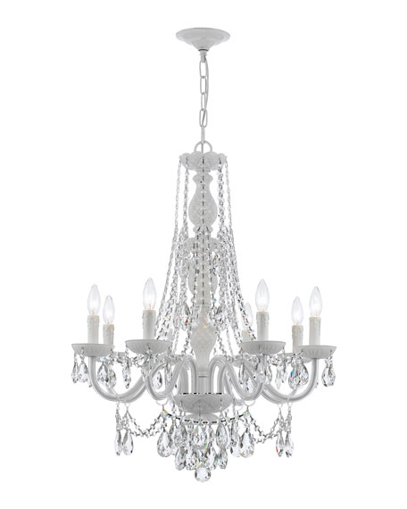 Crystorama Envogue 8-Light White Crystal Chandelier
