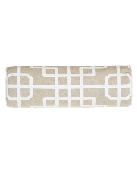 Ming Pagoda Geometric Neckroll Pillow