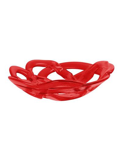 Large Red Basket Bowl