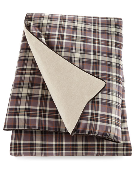 eastern accents king rawlins plaid duvet cover