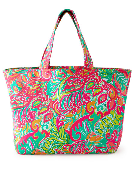 Lilly Pulitzer Foliage-Print Beach Tote