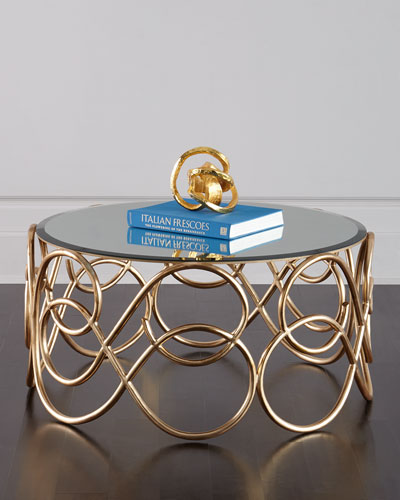 Brando Mirror-Top Coffee Table
