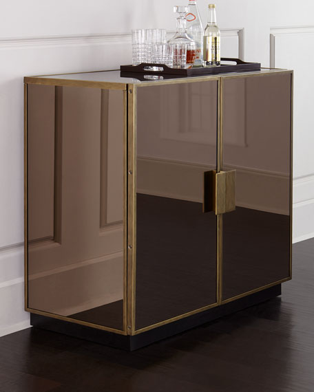 Elsa mirrored bar cabinet neiman marcus for Stores like horchow