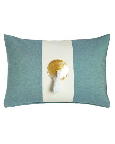Neimanmarcus Celadon Tassel Outdoor Pillow