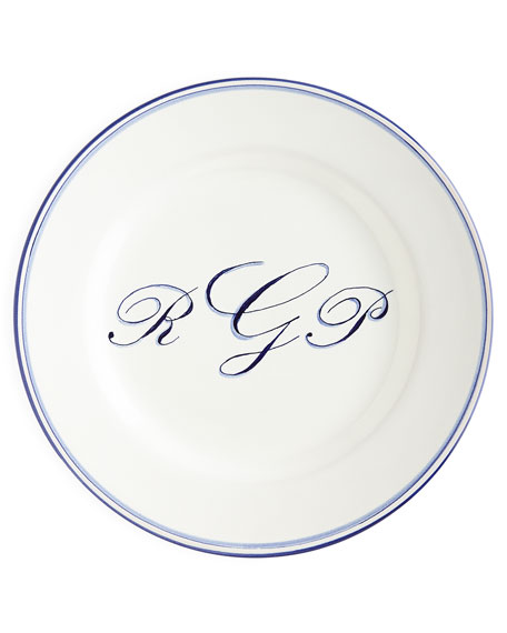 Monogrammed Salad Plate