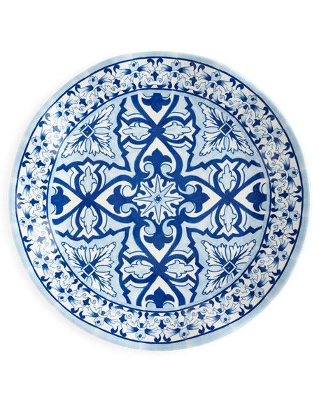 Talavera Azul Melamine Salad Plates, Set of 4