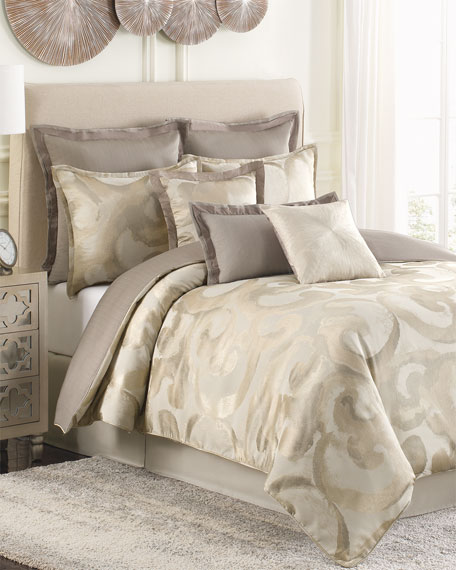 Raymond Waites Queen Sawyer Dove 4-Piece Comforter Set