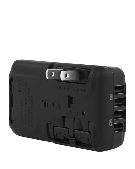 Black 4-Port USB Travel Adaptor