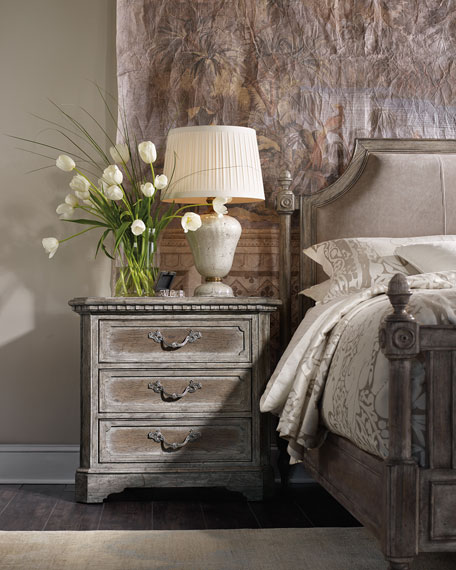 Cortina Three-Drawer Nightstand