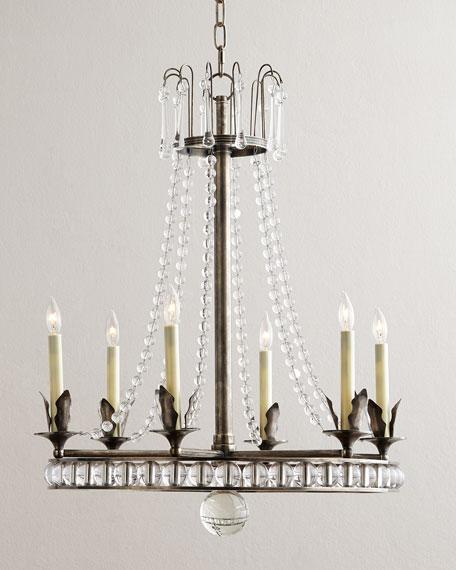 - Visual Comfort Regency-Style 6-Light Chandelier