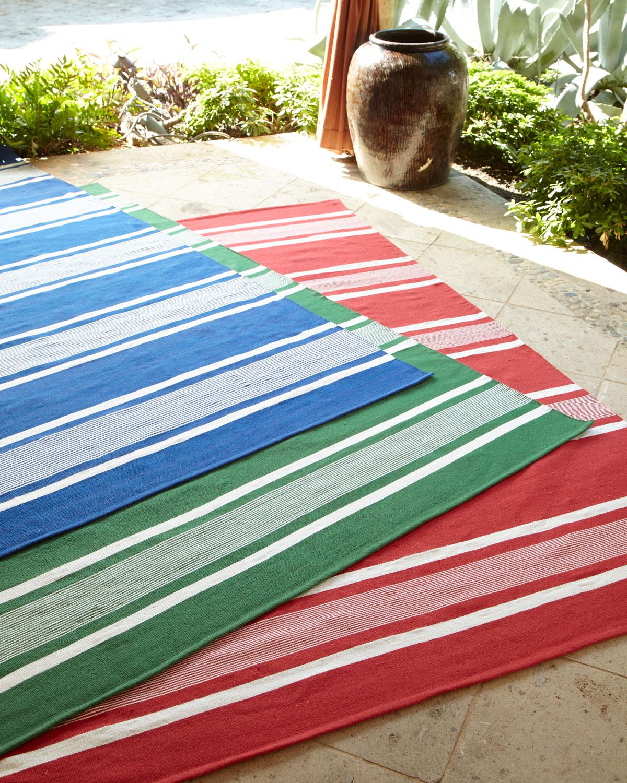 Ralph Lauren Home Harborview Stripe Indoor Outdoor Rug 5 X 8