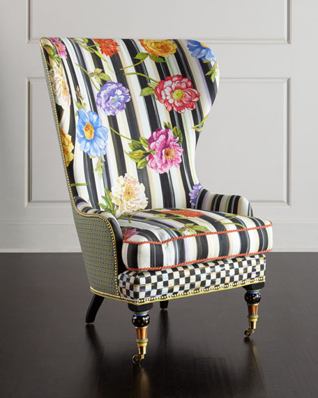 Cutting Garden High-Back Wing Chair