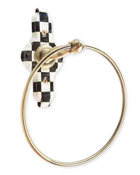 MacKenzie-Childs Courtly Check Towel Ring