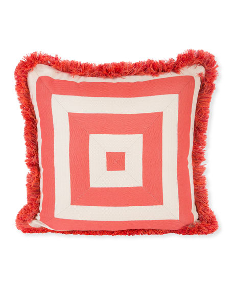 MacKenzie-Childs Spindle Cabana Outdoor Pillow