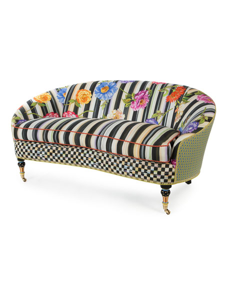 MacKenzie-Childs Cutting Garden Loveseat