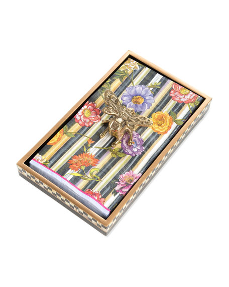 MacKenzie-Childs Queen Bee Buffet Napkin/Guest Towel Holder