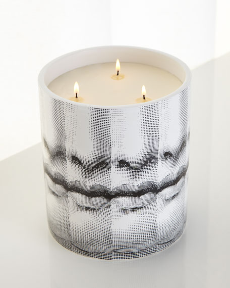 Fornasetti Mille Bocche Three-Wick Candle