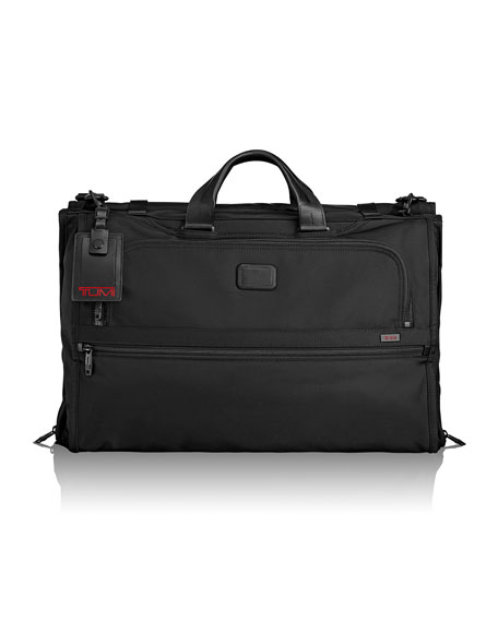 Alpha 2 Black Tri-Fold Carry-On Garment Bag Luggage