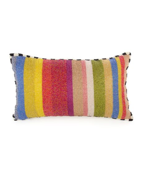 MacKenzie-Childs Cutting Garden Striped Lumbar Pillow