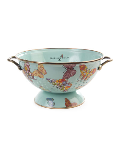 Sky Butterfly Garden Large Colander