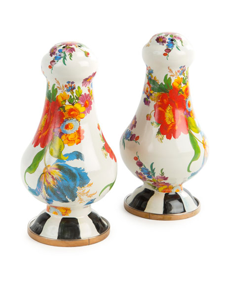 MacKenzie-Childs Flower Market Large Salt & Pepper Set