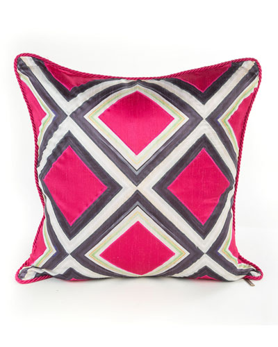 Fuchsia Mosaic Pillow
