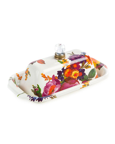 White Flower Market Butter Box