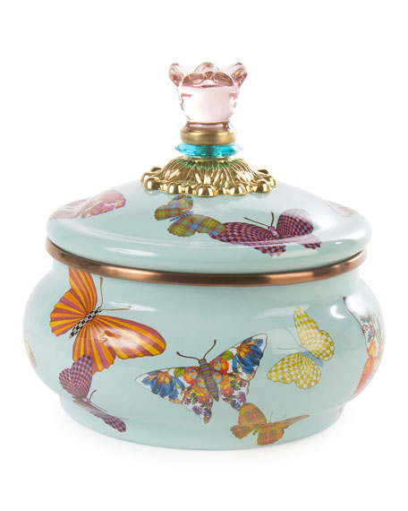 Sky Butterfly Garden Squashed Pot
