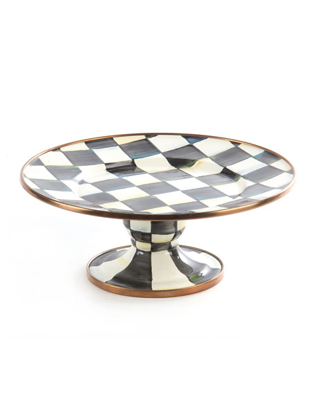 MacKenzie-Childs Mini Courtly Check Pedestal Platter