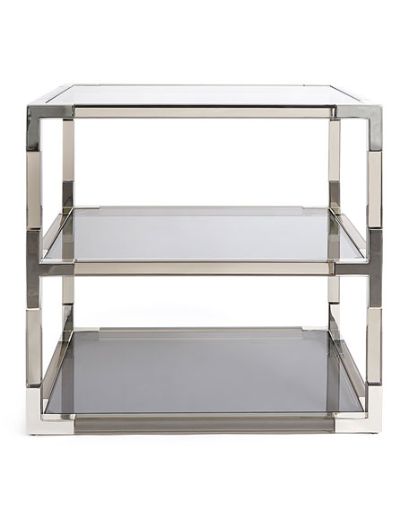 Jacques Smoke Two-Tier Side Table