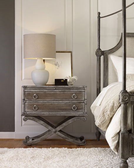 Cortina Two-Drawer Nightstand