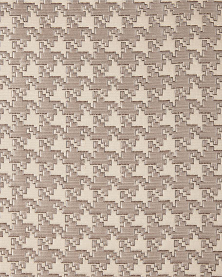King Houndstooth Check Coverlet
